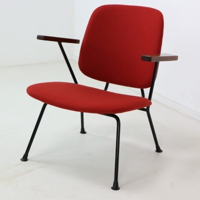 Five W.H. Gispen for Kembo Armchairs, 1950s