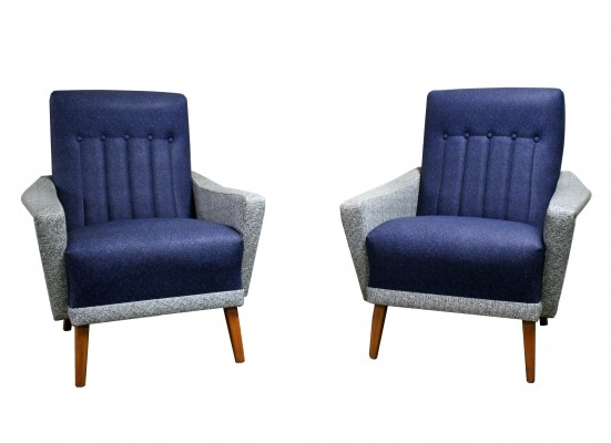 Pair of vintage club or lounge chairs made from skai, 1960s