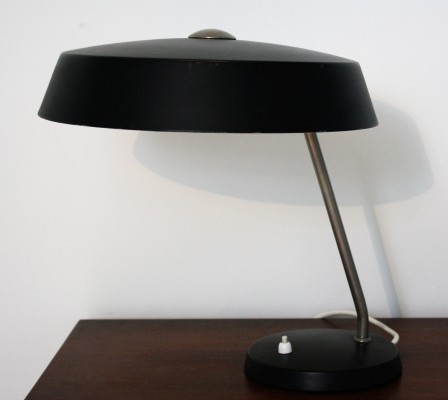 Vintage black Louis Kalff lamp by Philips