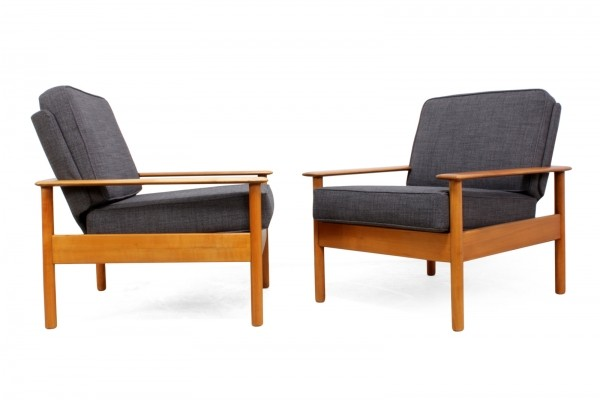 Pair of Danish Easy Chairs, c1960