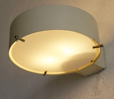 Pair of big wall lights 288W by Bruno Gatta for Stilnovo