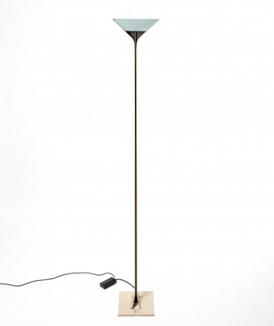 Aluminum with glass Flos 'Papillon' floorlamp by Tobia Scarpa