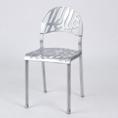 Aluminum 'Hello There' chairs by Jeremy Harvey for Artifort