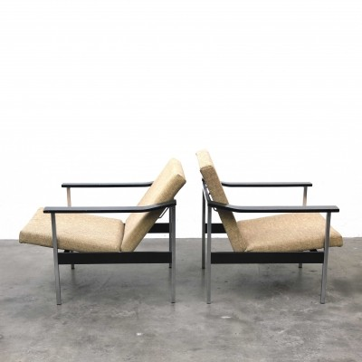 2 x Model 1450 lounge chair by Coen de Vries for Gispen, 1960s