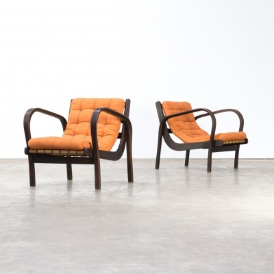 Pair of Karel Kozelka & Antonin Kropacek fauteuils, 1940s