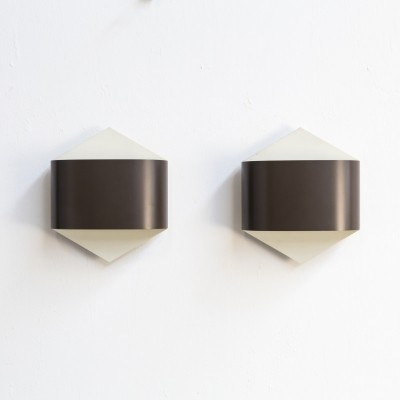 Pair of Rolf Krüger & Dieter Witte wall sconces by Staff Germany, 1960s