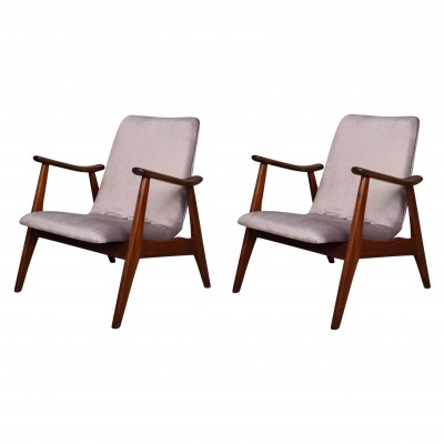 Pair of lounge chairs by Louis van Teeffelen for Wébé, 1950s