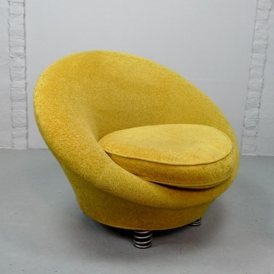 Yellow Coil Spring Lounge Chair by Keith Haring for Bretz, Germany 1980s