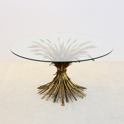 Coco Chanel style Gilt Metal Coffee Table