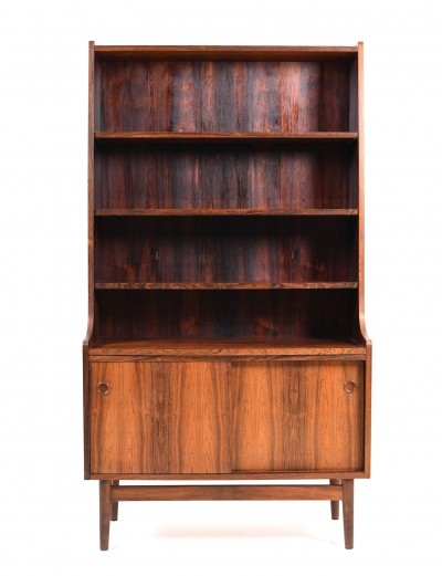 Early 1960s Danish Rosewood Bookcase / Cabinet