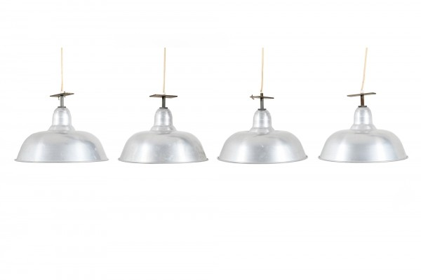 Set of Four Early 1930s Danish Industrial-Lamps