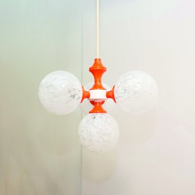 Space Age ball ceiling lamp by Richard Essig, Germany 1970s