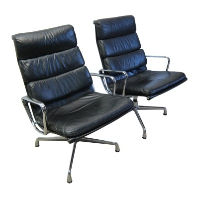 Eames ea216 softpad lounge chairs by Herman Miller, 1980s