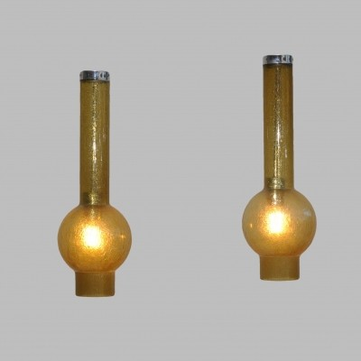 2 x Staff hanging lamp, 1970s