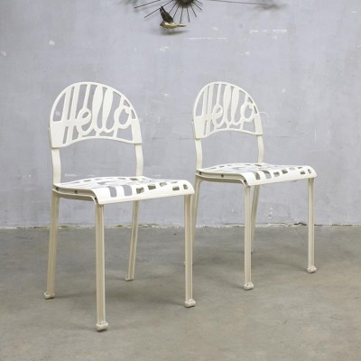 Pair of Hello There dinner chairs by Jeremy Harvey for Artifort, 1970s