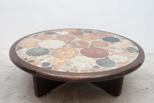 Ceramic Tile coffee table by Tue Poulsen, Denmark 1963