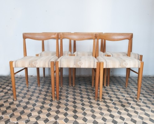 Dining Set of Six Oak Chairs by HW Klein for Bramin Møbler, Denmark