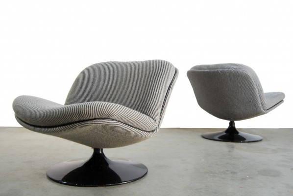 Pair of F504 lounge chairs by Geoffrey Harcourt for Artifort, 1960s
