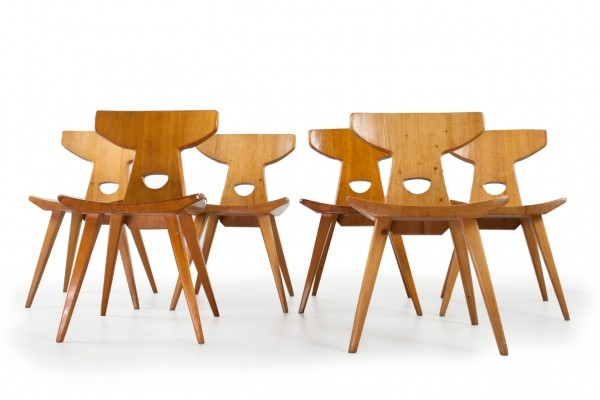 6 x dinner chair by Jacob Kielland Brandt for Christiansen Møbelfabrik, 1960s