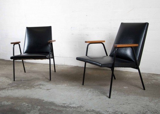 2 x arm chair by Pierre Guariche for Meurop, 1960s
