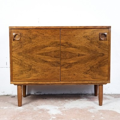 Danish cabinet in rosewood with special door opening system