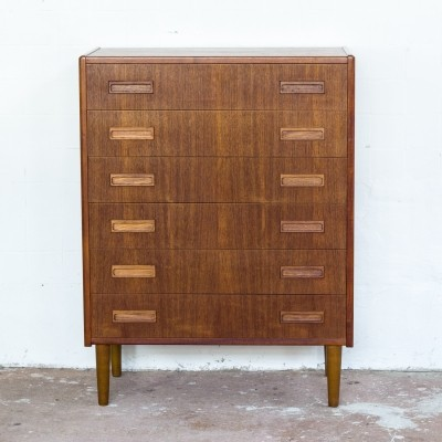 Danish chest of 6 drawers in teak by Westergaard