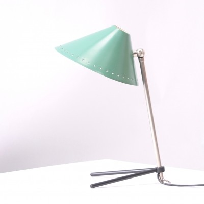 Pinocchio in Dark Reseda desk lamp by H. Busquet for Hala Zeist, 1950s