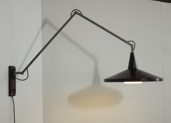 Panama / Gipsen 4050 wall lamp by Wim Rietveld for Gispen, 1950s