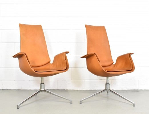 2 x FK 6725 lounge chair by Jørgen Kastholm & Preben Fabricius for Kill International, 1970s