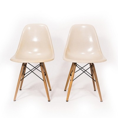 Parchment DSW chair by Ray & Charles Eames for Vitra