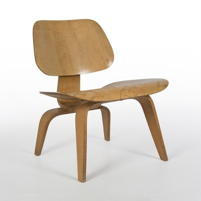 Original Evans Vintage Birch Eames LCW Moulded Plywood Lounge Chair