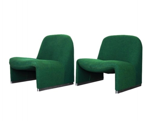 2 x Alky lounge chair by Giancarlo Piretti for Castelli, 1960s