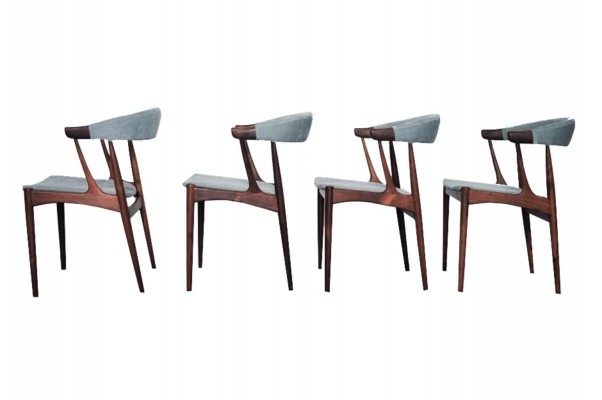 Set of 4 BA113 dining chairs by Johannes Andersen for Brdr. Andersens Møbelfabrik, 1950s