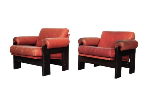 Pair of SZ73 lounge chairs by Martin Visser for Spectrum, 1970s