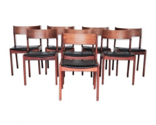Set of 8 dinner chairs by Kai Kristiansen for KS Mobelfabrik, 1950s