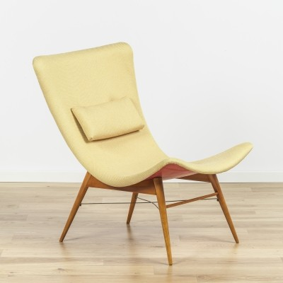 Lounge chair by Miroslav Navrátil for Nabytek, 1960s