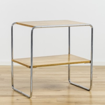 2 x B12 side table by Marcel Breuer for Thonet, 1930s