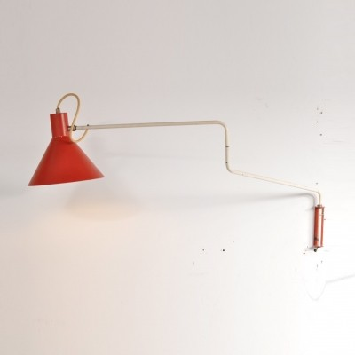 Wall lamp by J. Hoogervorst for Anvia Almelo, 1950s