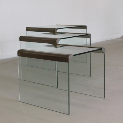 Set of 3 Gallotti & Radice nesting tables, 1980s
