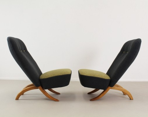 Pair of Congo lounge chairs by Theo Ruth for Dux, 1960s