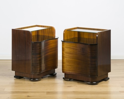 Set of 2 art deco nightstand tables, 30s