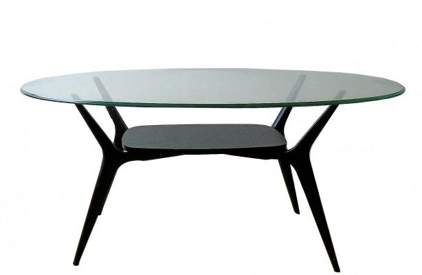Mid Century Belgian Coffee Table by Alfred Hendrickx, 1950s