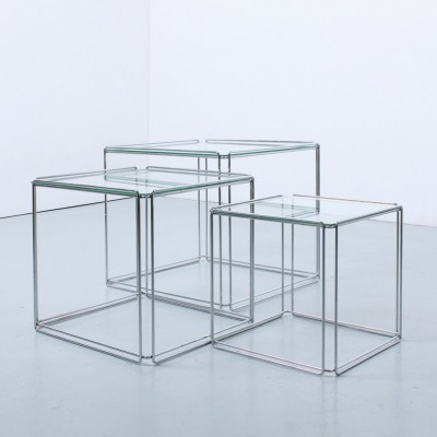 Isocele 'Chrome edition' nesting tables by Max Sauze, 1960s
