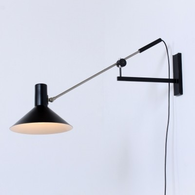 2 x model 7105 wall lamp by J. Hoogervorst for Anvia Almelo, 1950s