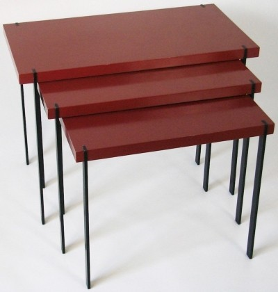 Rare set of nesting tables made by Lotos Werkkunst, Germany
