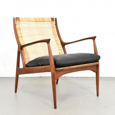 Rare teak lounge chair by Erik Andersen & Palle Pedersen for Horsnaes Møbler