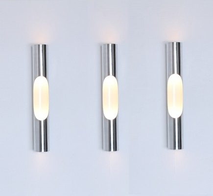 Set of 3 Giant Fuga wall lamps by Maija Liisa Komulainen for Raak Amsterdam, 1970s