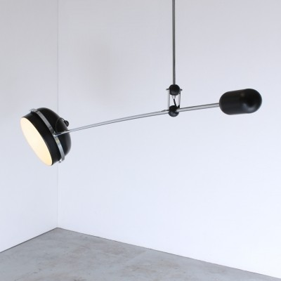 Counter balance hanging lamp by J. Hoogervorst for Anvia Almelo, 1970s