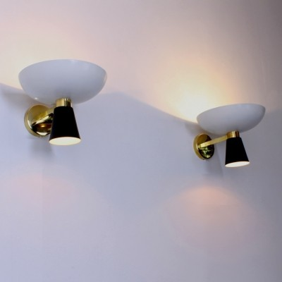 Pair of Diabolo sconces wall lamps by Stilnovo, 1950s