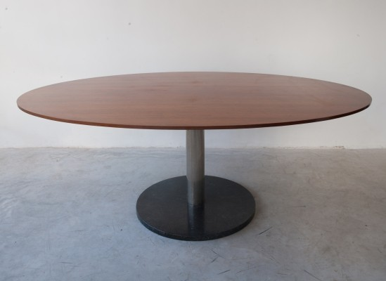 Alfred Hendricks Oval Shaped Rosewood Dining Table, Belgium 1962